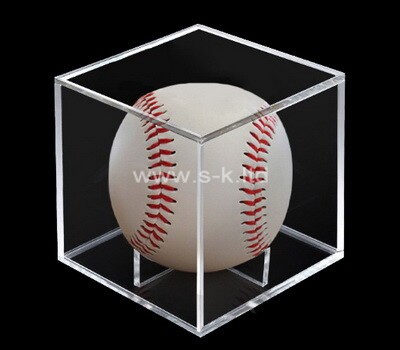 Custom clear plexiglass baseball display case