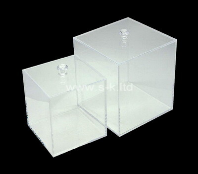Custom plexiglass boxes with lids