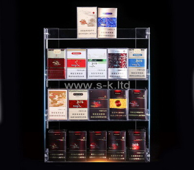 Custom plexiglass cigarette display case