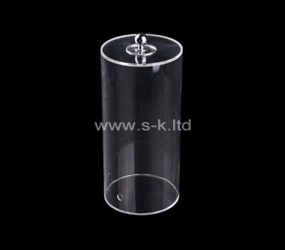 Custom round plexiglass display case