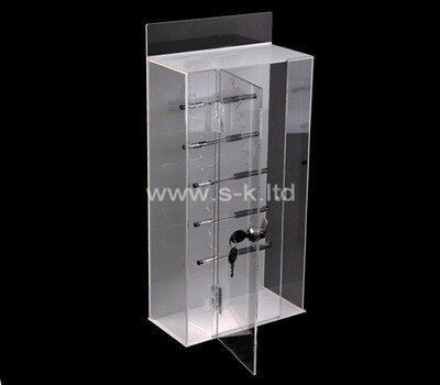Custom clear acrylic lock station