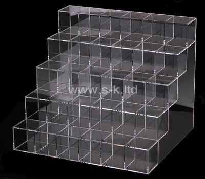Custom multi grids clear lucite display cases