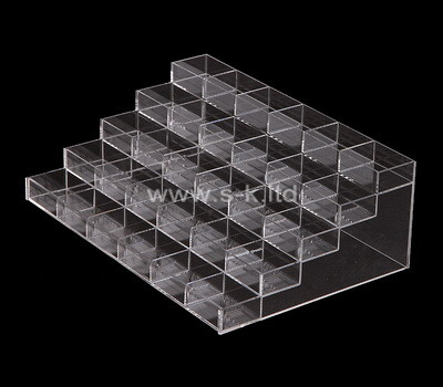 Custom 5 tiered multi grids clear lucite display cases