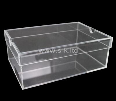 Custom clear acrylic case with lid