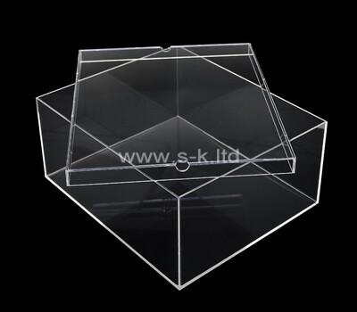 Custom clear plexiglass case with lid