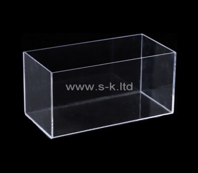 Custom narrow clear plexiglass display case
