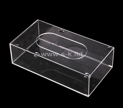 Custom clear plexiglass tissue paper box
