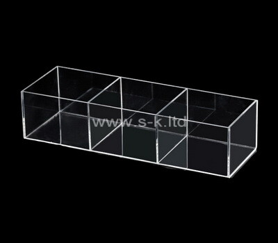 Custom clear plexiglass 3 grids display box