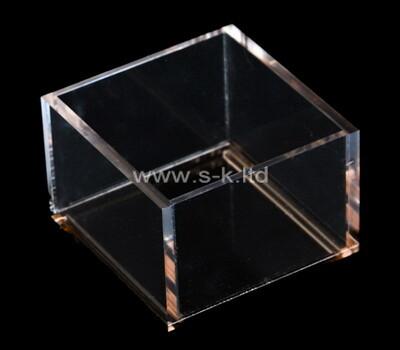 Custom square clear plexiglass display box
