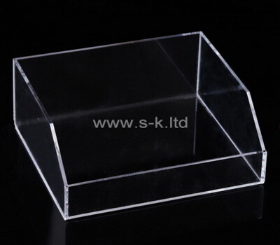 Custom front slanted clear plexiglass display box