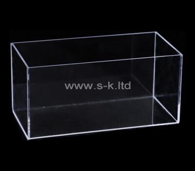 Custom narrow clear plexiglass display box
