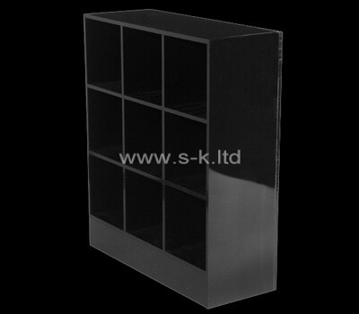 Custom black acrylic 9 grids display cases