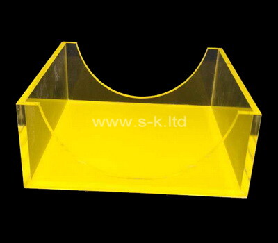 Custom yellow acrylic notepad holder box