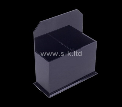 Custom table top black acrylic organizer box
