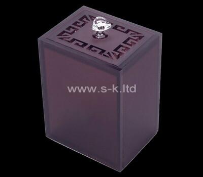 Custom purple acrylic box with lid