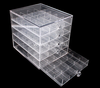Custom acrylic 5 drawers jewelry organizer box