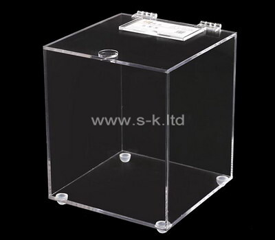 Custom square acrylic supermarket storage box