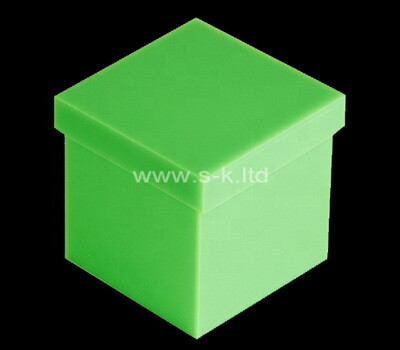 Custom square green acrylic wedding gift box