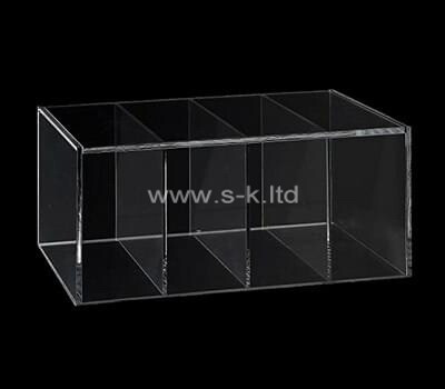 Custom transparent acrylic 4 grids box