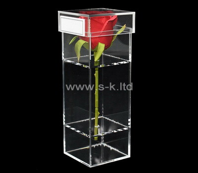 Custom acrylic rose box