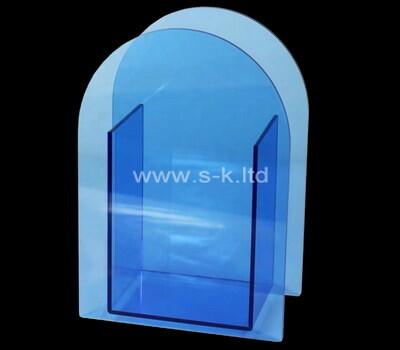 Custom blue acrylic vase