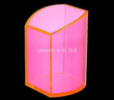Custom pink acrylic pen holder box