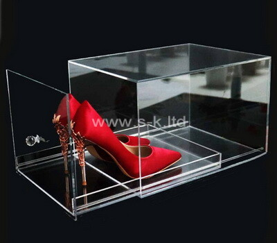 Custom perspex storage box acrylic bin lucite container acrylic organizing box for shoes