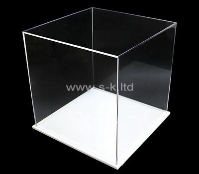 Custom plexiglass 5 sided display box acrylic display case