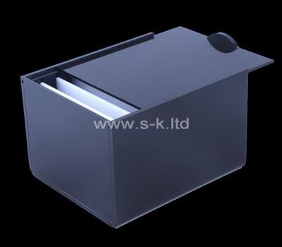Custom plexiglass eyelash holder sliding lid box perspex display case