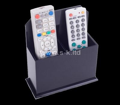 Custom acrylic remote controller holder lucite desk organiser