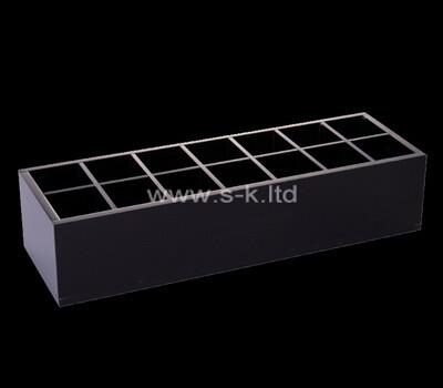 Custom table top acrylic display boxes lucite desk organiser