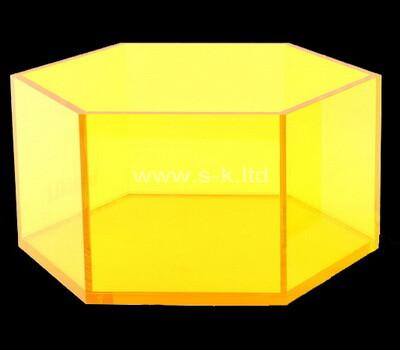 Acrylic manufacturer customize hexagon plexiglass boxes
