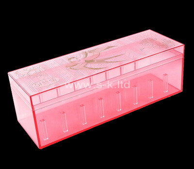 Acrylic manufacturer customize color perspex organizer boxes