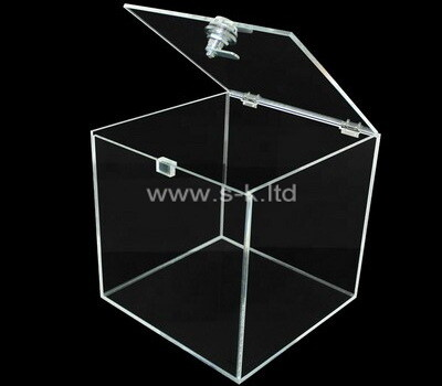 Acrylic manufacturer customize plexiglass box with lid