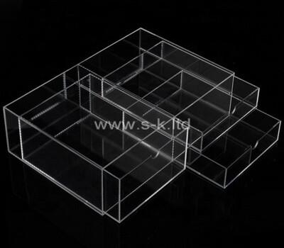 Plexiglass manufacturer customize lucite drawer boxes