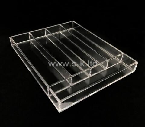 Plexiglass manufacturer customize multi grids acrylic organizer boxes