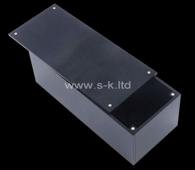 Acrylic supplier customize plexiglass magnetic sliding lid box