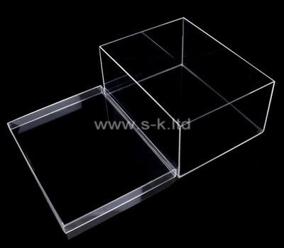 Acrylic manufacturer customize plexiglass storage box with lid
